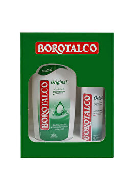 Set cadou Borotalco Original (Gel de dus Original 500 ml + Deospray Original 150 ml) de la Borotalco