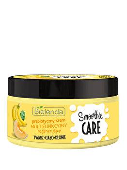 Crema multifunctionala regeneranta cu prebiotice, banana si pepene galben Bielenda Smoothie Care, 200 ml de la Bielenda