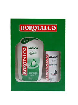 Set cadou Borotalco Original (Gel de dus Original 500ml + Deospray Invisible 150 ml)