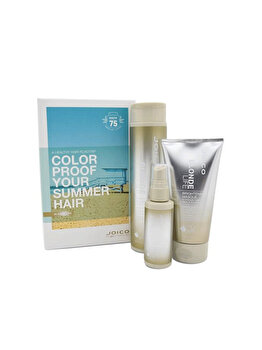 Set cadou Joico Blonde Life Summer Blend: Sampon 300ml+Masca 150ml+Spray de par 50ml de la Joico