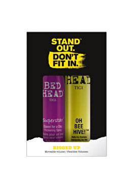 Pachet promo Tigi Bed Head (Spray pentru volum Superstar Queen for a Day, 311 ml + Sampon uscat Oh Bee Hive, 238 ml) de la Tigi