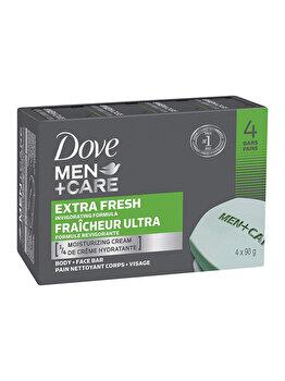 Set 4x90gr Dove Men Bar Extra Fresh de la Dove