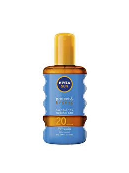 Ulei spray bronzare Nivea Sun Oil – Protect & Bronze SPF20 200ml de la Nivea