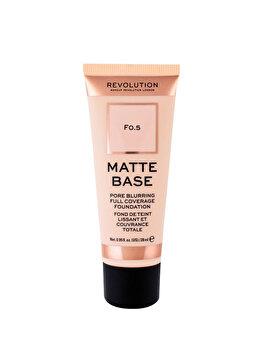 Fond de ten Makeup Revolution London Matte Base, F0.5, 28 ml