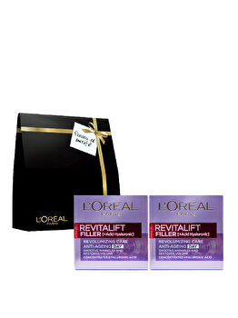 Set cadou L'Oreal Paris (Crema de zi antirid Revitalift Filler, 2 x 50 ml) de la L Oreal Paris
