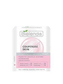 Crema de noapte tonifiant-regeneranta pentru reducerea rosetii Bielenda Capillary Skin, 50 ml de la Bielenda