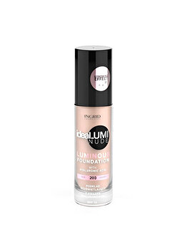 Fond de ten Ideal Lumi Nude, 200, 30ml de la INGRID Cosmetics