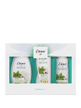 Set cadou Dove Awakening Ritual Trio (Deospray, 150 ml + Gel de dus, 250 ml + Lotiune de corp, 250 ml) de la Dove