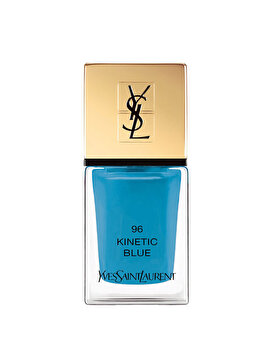 Lac de unghii Yves Saint Laurent La Laque Couture, 96 Kinetic Blue, 10 ml de la Yves Saint Laurent