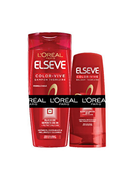 Set cadou L'Oreal Paris Color-Vive (Sampon Elseve Color-Vive, 700 ml + Balsam Color-Vive, 200 ml) de la L Oreal Paris