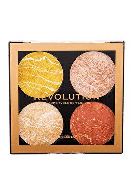 Paleta iluminatoare si bronzer Makeup Revolution London Cheek Kit, Make It Count