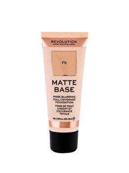 Fond de ten Makeup Revolution London Matte Base, F6, 28 ml de la Makeup Revolution London