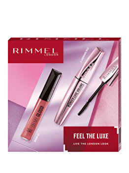 Set cadou Rimmel Feel the Luxe (Mascara Wonder'Luxe Volume, 001 Black + Luciu de buze Oh My Gloss!, 330 Snog) de la Rimmel