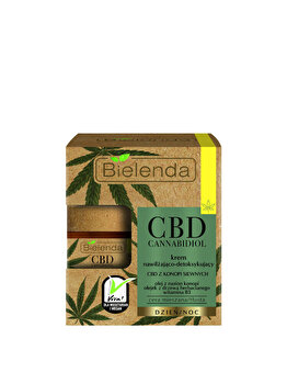 Crema de fata hidratanta si calmanta cu extract de canepa Bielenda CBD Cannabidiol, 50 ml de la Bielenda