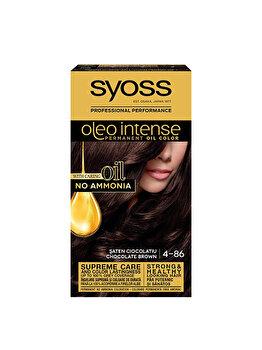 Vopsea de par permanenta fara amoniac Syoss Oleo Intense, 4-86 Saten Ciocolatiu, 115 ml de la Syoss Oleo