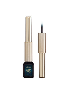 L'Oreal Paris Tus lichid waterproof Matte Signature by SuperLiner 04 Emeraude, 6ml de la L Oreal Paris