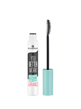 Mascara Essence You Better Work! Volume & Curl, Black, 10 ml de la Essence