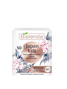 Crema anti-rid 50+ cu efect de lifting SPF 6 Bielenda Japan Lift, 50 ml