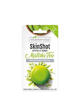 Masca de fata detoxifianta cu ceai matcha Bielenda Skin Shot, 8 g de la Bielenda