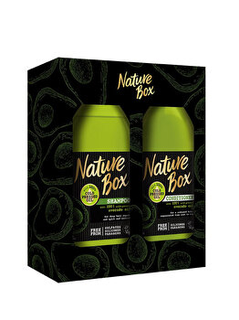 Set cadou Nature Box Avocado (Sampon 385ml + Balsam 385ml) de la Nature Box