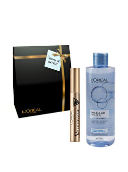 Pachet promo L'Oreal Paris (Apa micelara ten sensibil, normal-mixt + Mascara Volumissime Extra Volume, Black) de la L Oreal Paris