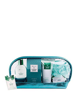 Set cadou IDC Institute Scented Emerald (Gel de dus, 120 ml + Lotiune de corp, 150 ml + Cristale de baie, 50 g + Crema de maini, 50 ml + Burete de baie) de la IDC Institute
