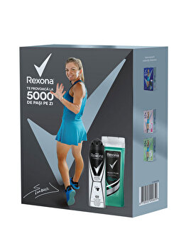 Set cadou Rexona Men Invisible Protection (Gel de dus, 250 ml + Deospray, 150 ml) de la Rexona