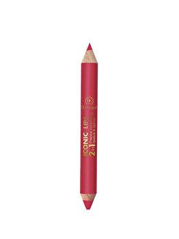 Creion de buze 2 in 1, Dermacol Iconic Lips, no. 4, 10 g de la Dermacol
