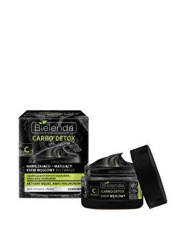 Crema de fata hidratanta si matifianta cu carbon Bielenda Carbo Detox, 50 ml de la Bielenda