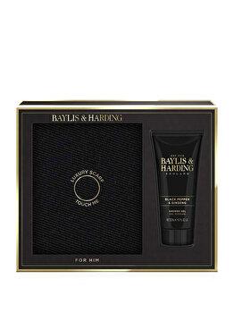 Set cadou Baylis & Harding Black Pepper & Ginseng (Fular + Gel de dus, 200 ml) de la Baylis And Harding