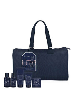 Set cadou Baylis & Harding Fuzzy Duck Men Pink Pepper & Oud (Gel de dus, 200 ml + Sapun, 150 g + Gel de curatare pentru par si corp, 100 ml + Lotiune de corp, 100 ml + After shave balsam, 50 ml + Geanta travel) de la Baylis And Harding