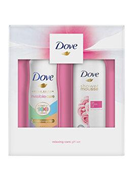 Set cadou Dove Rose Duo (Spuma de dus, 200 ml + Deospray, 150 ml)