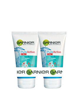 Set cadou Garnier Gel Pure Active 3in1 (Gel Pure Active, 2 x 150 ml)