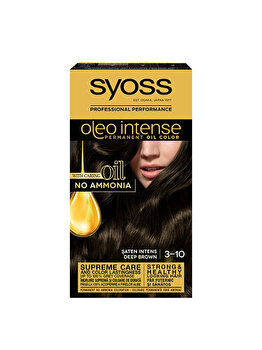 Vopsea de par permanenta fara amoniac Syoss Oleo Intense, 3-10 Saten Inchis, 115 ml de la Syoss Oleo