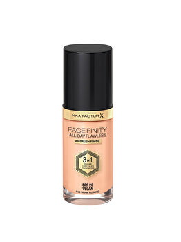 Fond de ten 3 in 1 Max Factor Facefinity All Day Flawless, N45 Warm Almond, 30 ml de la Max Factor
