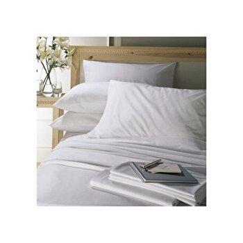 Lenjerie de pat, Dormisete, 2 persoane, Satin Dhalia, 220 x 280 cm, bumbac, Alb de la Dormisete