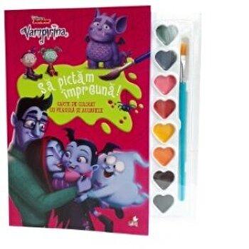 Vampirina. Sa pictam impreuna! Carte de colorat cu pensula si acuarele./Disney de la Litera