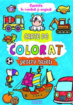 Carte de colorat pentru baieti in rom-eng/*** de la Flamingo