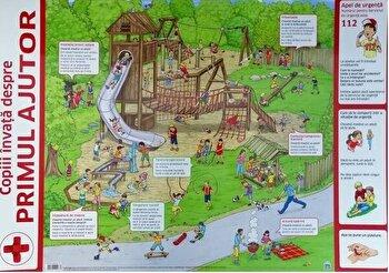 Plansa - Copii invata despre primul ajutor/Nelson