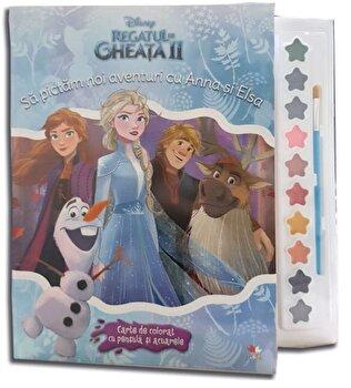 Disney. Regatul de gheata II. Sa pictam noi aventuri cu Anna si Elsa. Carte de colorat cu pensula si acuarele/***