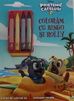 Disney. Prietenii catelusi. Coloram cu Bingo si Rolly. Contine 4 creioane cerate/*** de la Litera