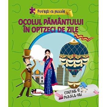 Povesti cu puzzle - Ocolul Pamantuli in optzeci de zile/***