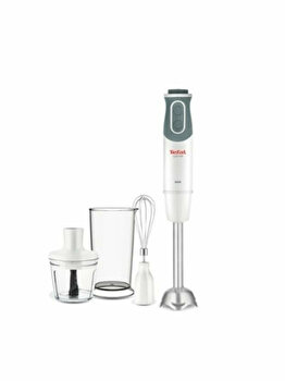 Mixer vertical Tefal Optichef HB643138, 800 W, 800 ml, Alb de la Tefal