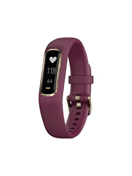 Bratara fitness Vivosmart 4, Garmin, Small/Medium, 122-188 mm, 010-01995-21, Rosu