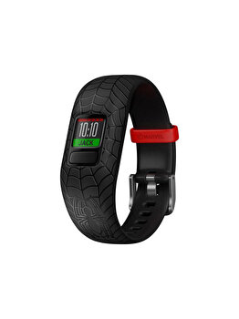 Bratara fitness reglabila Vivofit Jr. 2, Garmin, 130 – 175 mm, 010-01909-17, Spiderman, Negru de la GARMIN