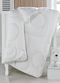 Pilota de pat pentru copii, Cotton Box, bumbac ranforce, 95 x 145 cm, 129CTN9704, Alb de la Cotton Box