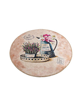 Covor de baie, Chilai Home, 100 cm, 359CHL1443, micro poliamida, Multicolor