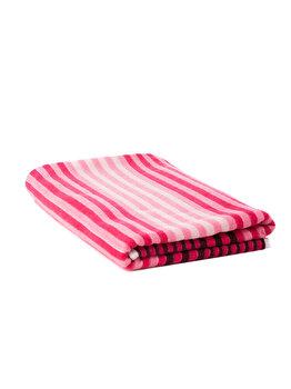 Prosop de plaja cu dungi roz, Heinner, 70 x 140 cm, HR-TWSTR140-PK, bumbac/poliester, Roz de la Heinner