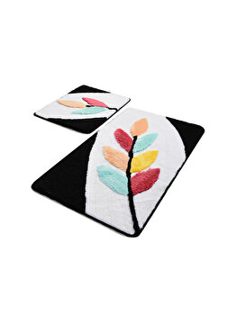Set covoare de baie, Chilai Home, 2 piese, 60 x 100 cm, 359CHL2308, acrilic, Multicolor de la Chilai Home