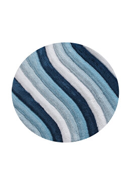 Covor de baie, Chilai Home, 90 cm, 359CHL1686, acrilic, Albastru de la Chilai Home
